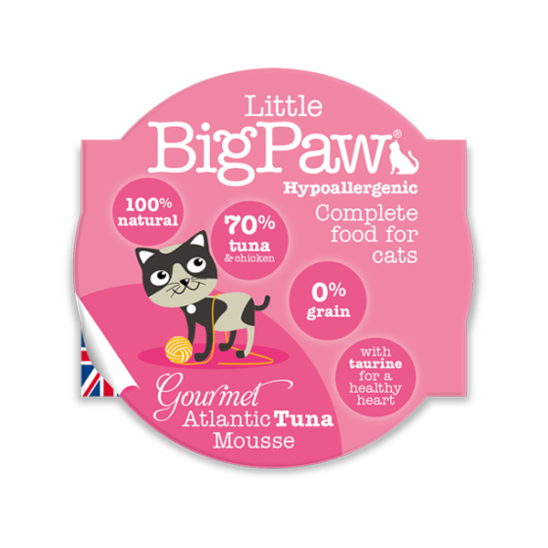 Little BigPaw Atlantic Tuna Wet Cat Food in Cups - Petsnpets