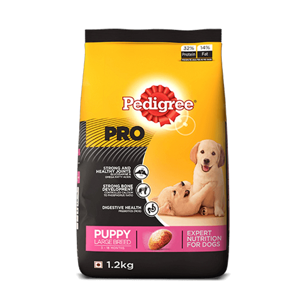 Pedigree Pro Puppy large breed Food 1.2Kg - Petsnpets