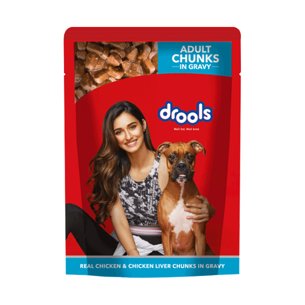 Drools Real Chicken and Chicken Liver Wet Food for Adult Dogs - Petsnpets