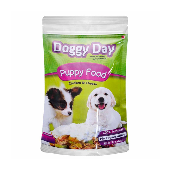Doggy Day Chicken and Cheese Puppy Wet Food in Pouch - Petsnpets