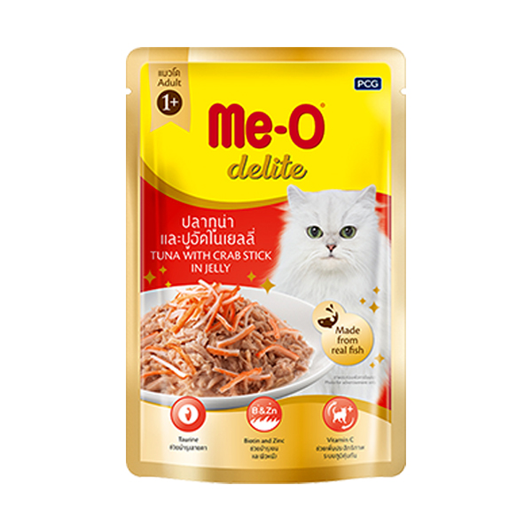 MeO Delite Tuna with Crab Stick Jelly in Pouch - Petsnpets