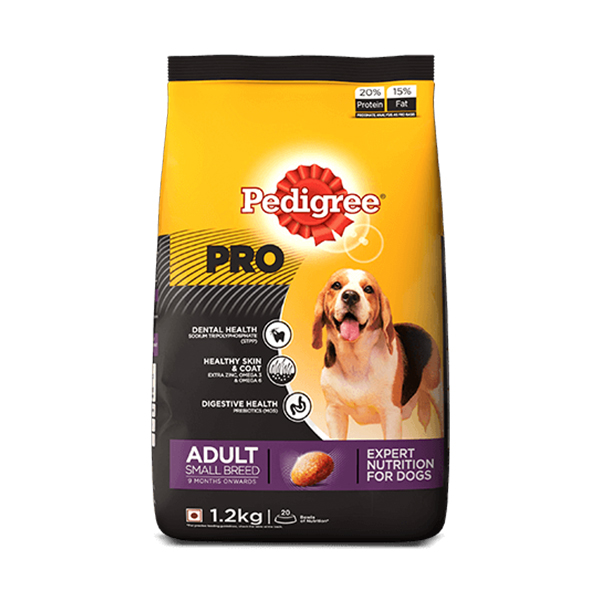 Pedigree Pro Adult Small Breed Dog Food 1.2Kg - Petsnpets