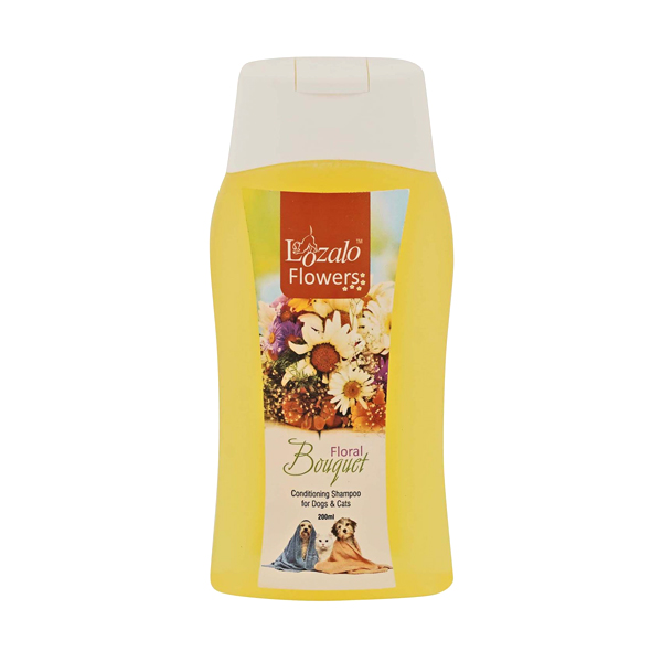 Lozalo Flower Conditioning Shampoo for Dogs & Cats, 200ml, bouquet