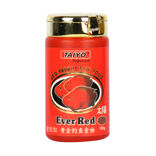 Taiyo Ever Red Fish Food for Red Parrot available in 100g - Petsnpets