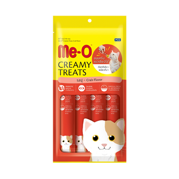 MeO Creamy Treats Crab Flavor For Cat and Kitten - Petsnpets