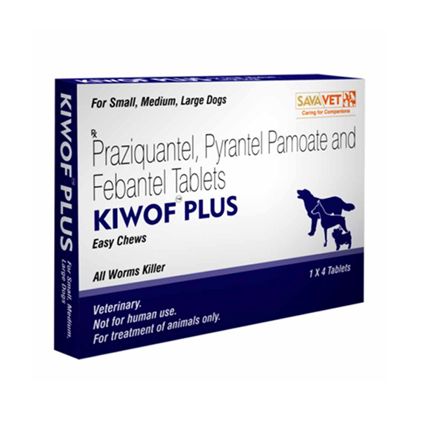 Kiwof Plus Dog Dewormer Chewable Tablets for Dogs S/M/L Size - Petsnpets