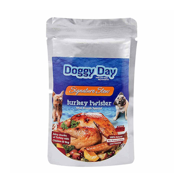 Doggy Day Turkey Twister Wet Food for Mini Breed in Pouch - Petsnpets