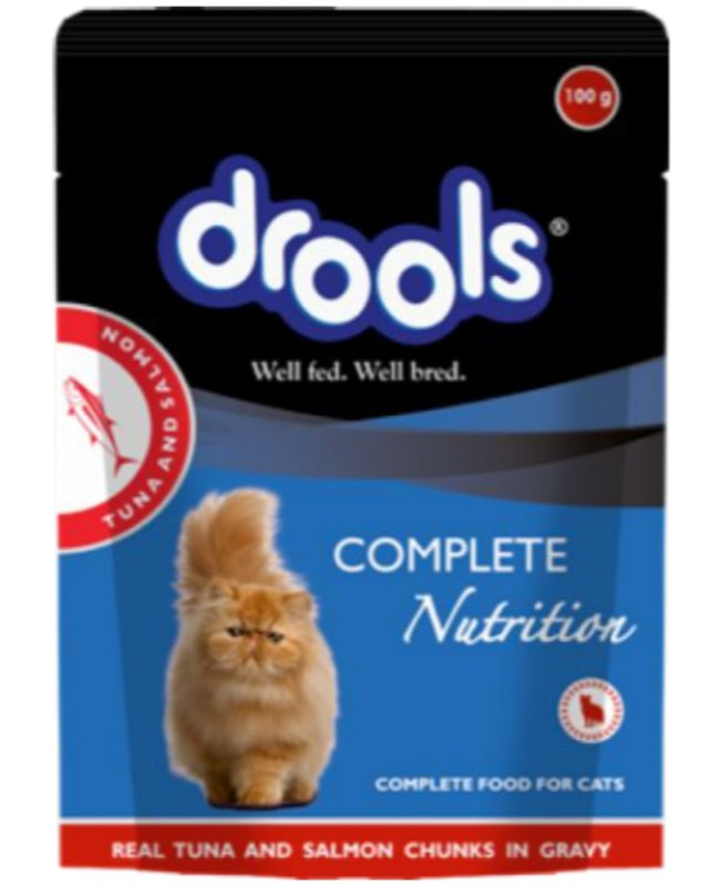 Drools Tuna and Salmon Adult Cat Gravy in Pouch - Petsnpets