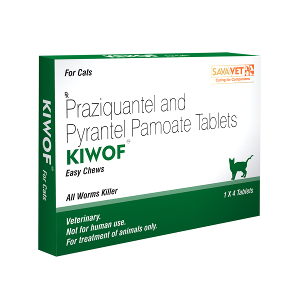 Kiwof Plus Dewormer Chewable Tablets for Cats - Petsnpets