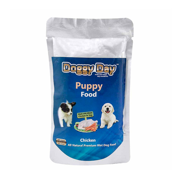 Doggy Day Chicken and Vegetable Puppy Wet Food in Pouch - Petsnpets