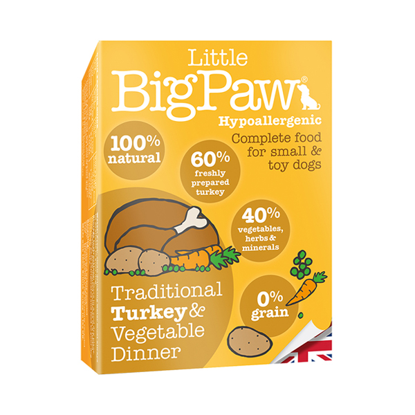 Little BigPaw Turkey & Vegetable Wet Dog Food in Tray - Petsnpets