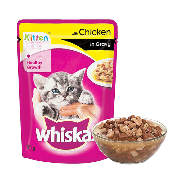 Whiskas Kitten Chicken Gravy In Pouch - Petsnpets