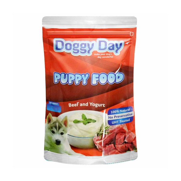 Doggy Day Beef and Yogurt Puppy Wet Food in Pouch - Petsnpets