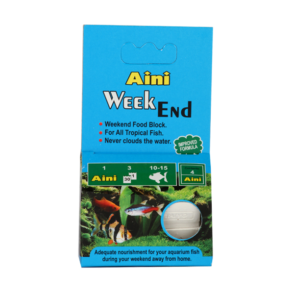 Aini Vacation Blocks Week-End Fish Food 7 days block - Petsnpets