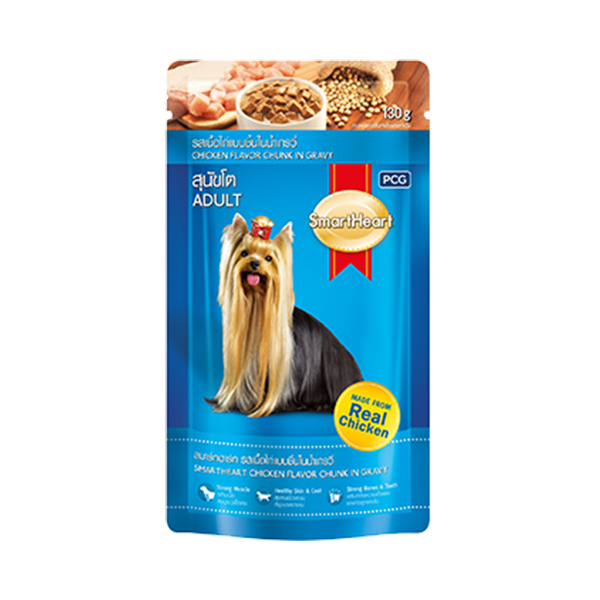 Smart Heart Chicken and Liver Chunk Adult Gravy in Pouch - Petsnpets