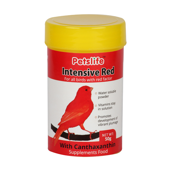 Petslife Colour Intensive Supplement Feed for Canaries, 50g, Red - Petsnpets