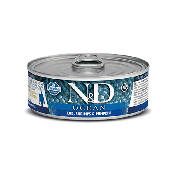 Farmina N&D Ocean COD Shrimp and Pumpkin Wet Kitten Food - Petsnpets