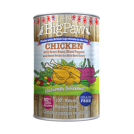 Little BigPaw Chicken Wet Dog Food in Tin - Petsnpets