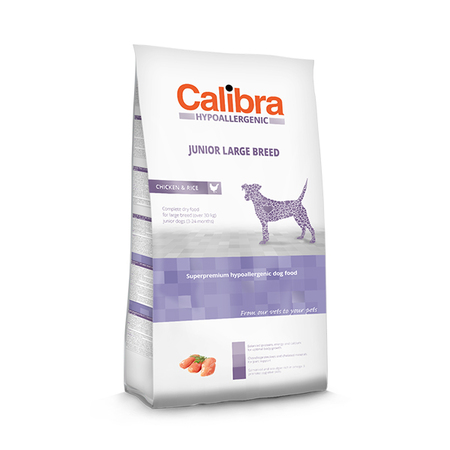 Calibra Hypoallergenic Low Grain Chicken And Rice Junior Large Breed Food - Petsnpets