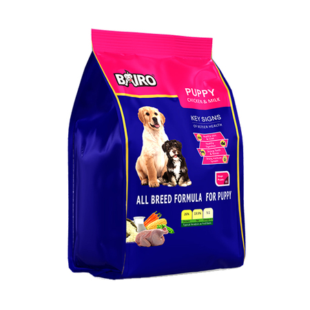 Bairo Chicken and Milk Puppy Dog Food 500g - Petsnpets