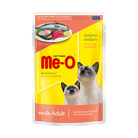 MeO Tuna With Whitefish Gravy in Pouch - Petsnpets