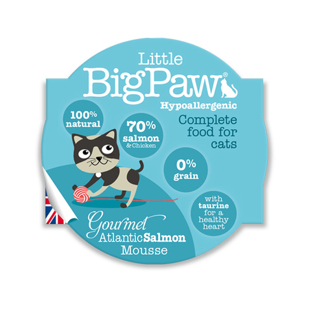 Little BigPaw Atlantic Salmon Wet Cat Food in Cups - Petsnpets