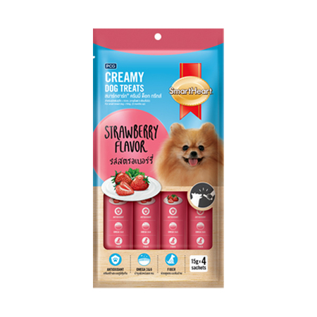 SmartHeart Creamy Dog Treats Strawberry Flavor - Petsnpets