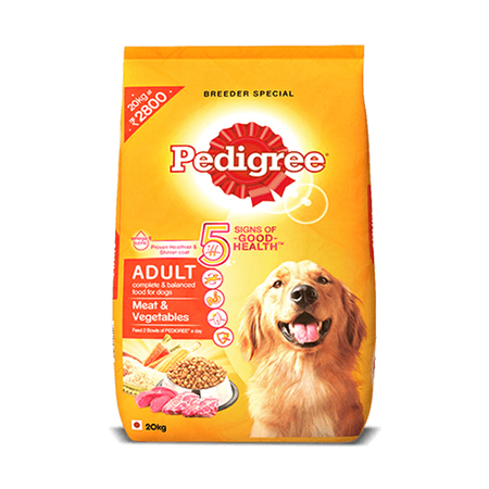 Pedigree Meat and Vegetables Adult Dog Food - Petsnpets
