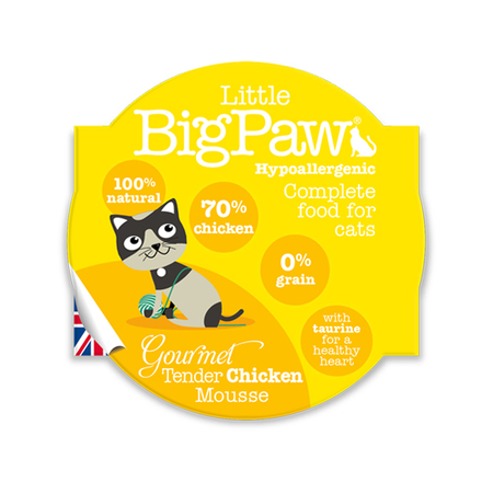 Little BigPaw Tender Chicken Wet Cat Food in Cups - Petsnpets