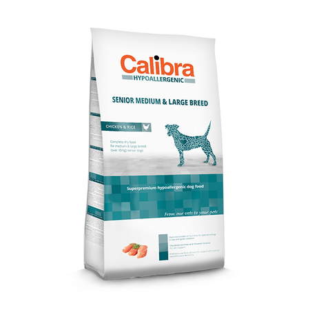Calibra Hypoallergenic Low Grain Chicken And Rice Senior Medium And Large Breed Dog Food - Petsnpets