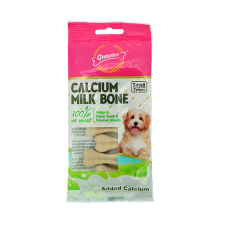 Gnawlers Calcium Milk Bones Dog Treats 7 Pieces