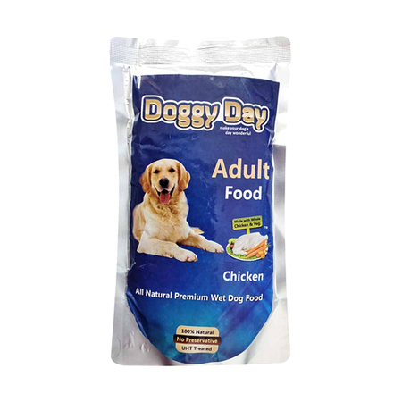 Doggy Day Chicken and Vegetable Adult Wet Food in Pouch - Petsnpets