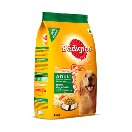 Pedigree Adult 100% Vegetarian Dog Food 1.2Kg - Petsnpets