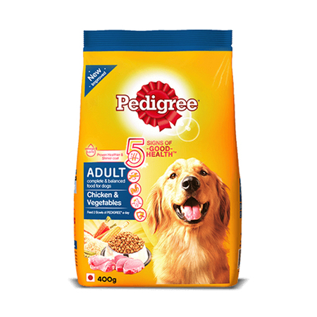 Pedigree Chicken And Vegetable Adult Dog Food 400g - Petsnpets