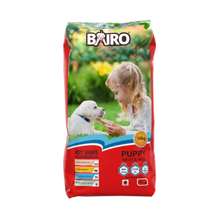 Bairo Meat and Rice Dog Food, 16Kg - For Puppies