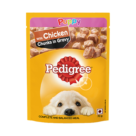 Pedigree Puppy Gravy With Chicken Chunks In Pouch - Petsnpets