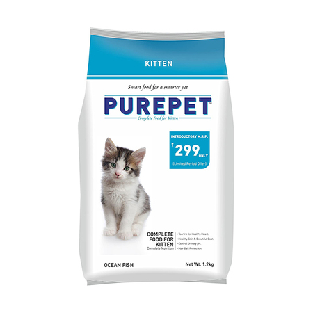 Purepet Ocean Fish Kitten Food - Petsnpets