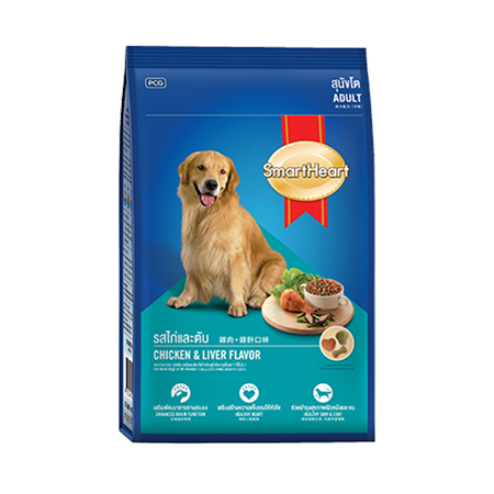 Smart Heart Chicken And Liver Flavor Adult Dog Food - Petsnpets