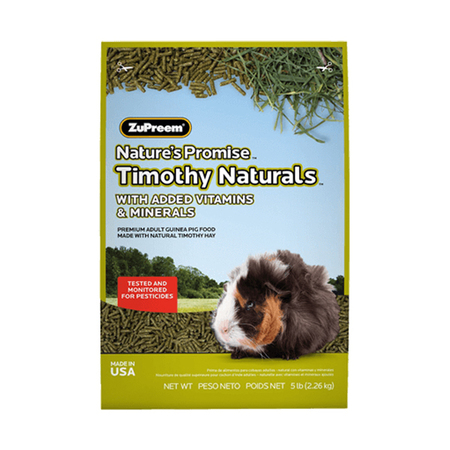 Zupreem Nature's Promise Timothy Naturals Guinea Pig Food - Petsnpets