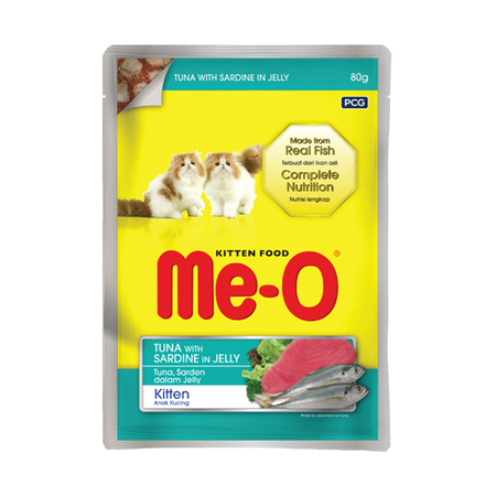 MeO Sardine with Chicken & Rice Gravy in Pouch for Kittens - Petsnpets