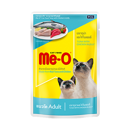 MeO Tuna With Chicken Jelly in Pouch - Petnspets