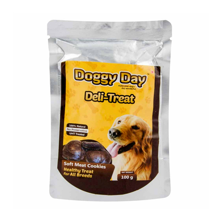 Doggy Day Deli Treat Soft Meat Cookies Adult Wet Food in Pouch - Petsnpets