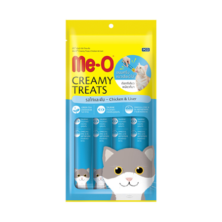 MeO Creamy Treats Chicken and Liver Flavor For Cat and Kitten - Petsnpets