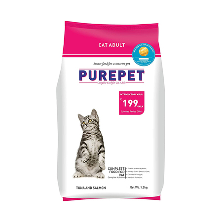Purepet Tuna and Salmon Adult Cat Food 1.2kg - Petsnpets