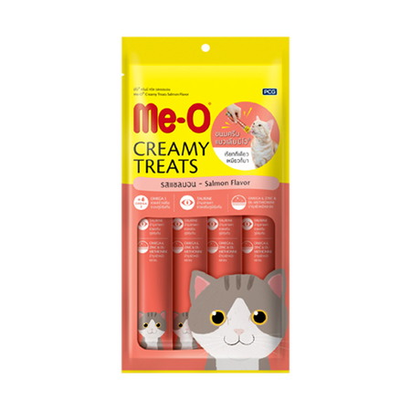 MeO Creamy Treats Salmon Flavor For Cat and Kitten - Petsnpets