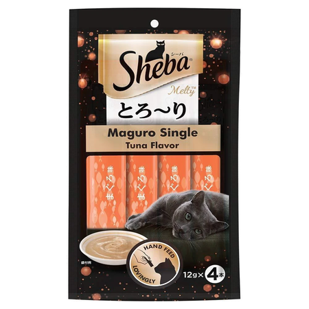 Sheba Maguro Single Tuna Flavour Melty Cat Treat In Pouch - Petsnpets