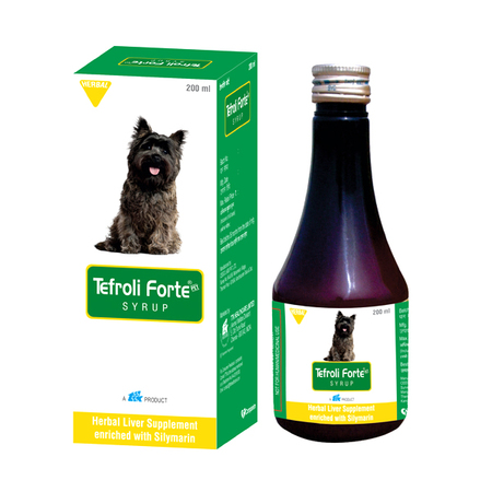 Tefroli Forte Syrup Herbal Liver Supplement for Dogs - Petsnpets
