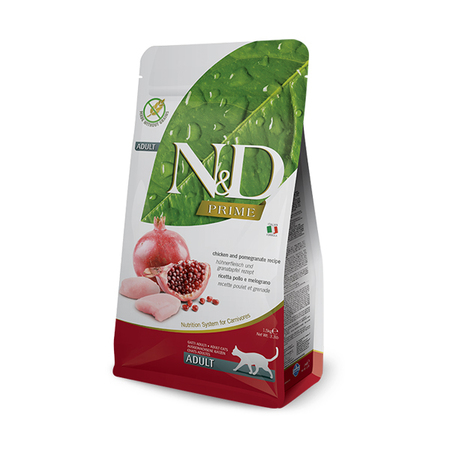 Farmina N&D Prime Grain Free Chicken and Pomegranate Adult Cat Food - Petsnpets