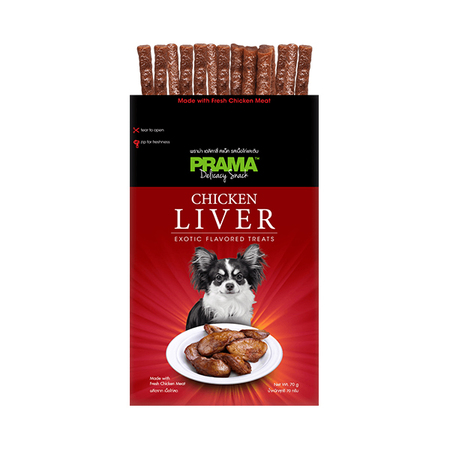 Prama Chicken Liver Exotic Flavored Dog Treats In Pouch - Petsnpets