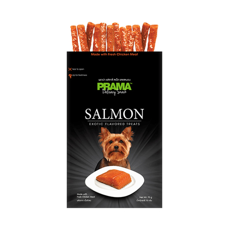 Prama Salmon Exotic Flavored Dog Treats In Pouch - Petsnpets